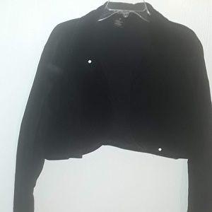 Ashley Stewart black corduroy 2x jacket